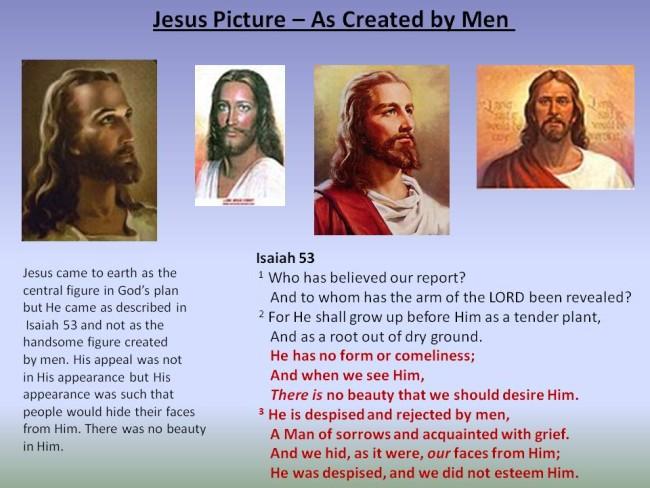 jesus appearance