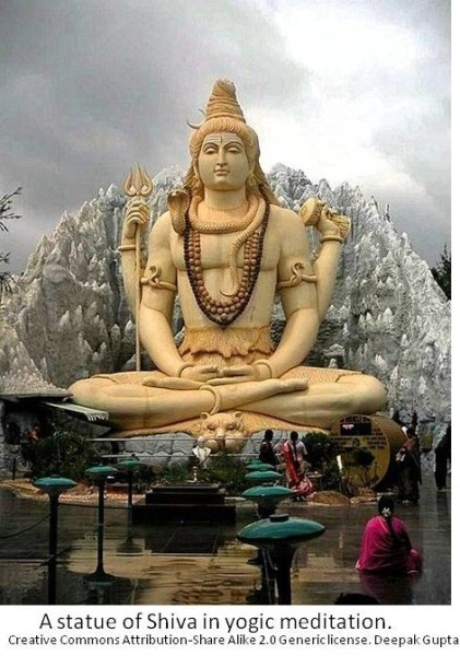 hugh statue of Shiva