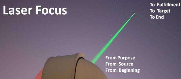 God has laser focus laser focus on heaven
